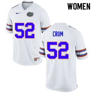 Women #52 Quaylin Crum Florida Gators College Football Jerseys White 400273-933