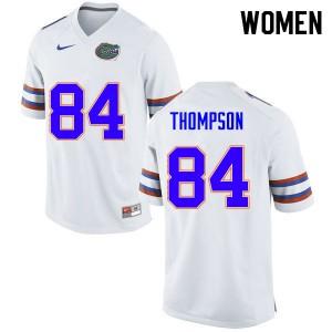 Women #84 Trey Thompson Florida Gators College Football Jerseys White 936358-898