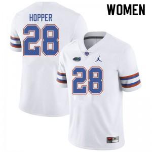 Jordan Brand Women #28 Ty'Ron Hopper Florida Gators College Football Jerseys White 738785-255
