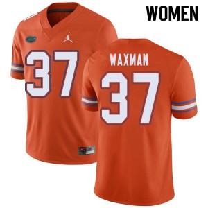 Jordan Brand Women #37 Tyler Waxman Florida Gators College Football Jerseys Orange 703093-606
