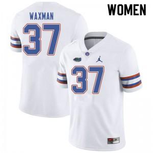 Jordan Brand Women #37 Tyler Waxman Florida Gators College Football Jerseys White 837064-959
