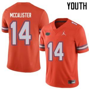 Jordan Brand Youth #14 Alex McCalister Florida Gators College Football Jerseys Orange 418058-315