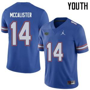 Jordan Brand Youth #14 Alex McCalister Florida Gators College Football Jerseys Royal 917629-663