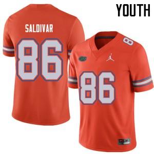 Jordan Brand Youth #86 Andres Saldivar Florida Gators College Football Jerseys Orange 528591-332