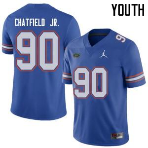 Jordan Brand Youth #90 Andrew Chatfield Jr. Florida Gators College Football Jerseys Royal 448961-477