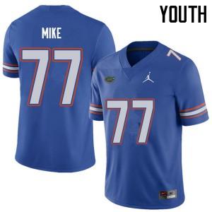 Jordan Brand Youth #77 Andrew Mike Florida Gators College Football Jerseys Royal 987658-934