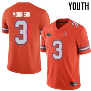 Jordan Brand Youth #3 Antonio Morrison Florida Gators College Football Jerseys Orange 570614-962