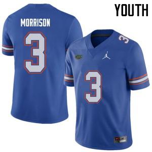 Jordan Brand Youth #3 Antonio Morrison Florida Gators College Football Jerseys Royal 905305-200