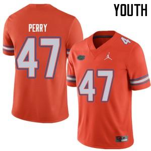 Jordan Brand Youth #47 Austin Perry Florida Gators College Football Jerseys Orange 731934-537
