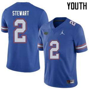Jordan Brand Youth #2 Brad Stewart Florida Gators College Football Jerseys Royal 936383-607