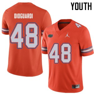 Jordan Brand Youth #48 Brett DioGuardi Florida Gators College Football Jerseys Orange 658296-455
