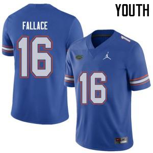Jordan Brand Youth #16 Brian Fallace Florida Gators College Football Jerseys Royal 879122-997
