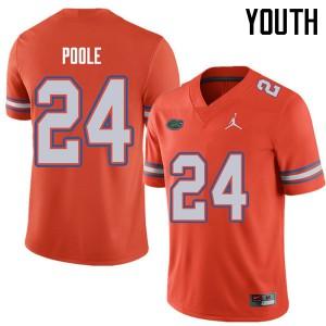 Jordan Brand Youth #24 Brian Poole Florida Gators College Football Jerseys Orange 746330-837