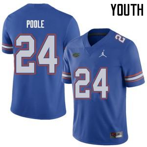Jordan Brand Youth #24 Brian Poole Florida Gators College Football Jerseys Royal 729643-511