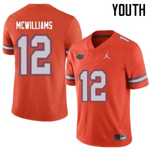 Jordan Brand Youth #12 C.J. McWilliams Florida Gators College Football Jerseys Orange 758340-679