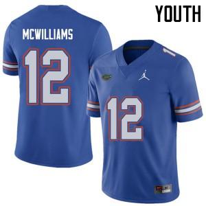 Jordan Brand Youth #12 C.J. McWilliams Florida Gators College Football Jerseys Royal 265522-184