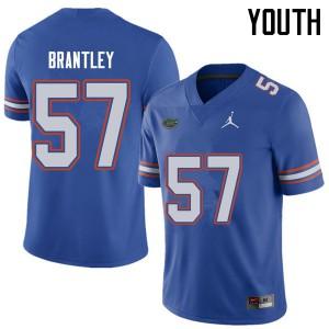 Jordan Brand Youth #57 Caleb Brantley Florida Gators College Football Jerseys Royal 436016-137