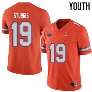 Jordan Brand Youth #19 Caleb Sturgis Florida Gators College Football Jerseys Orange 765016-763