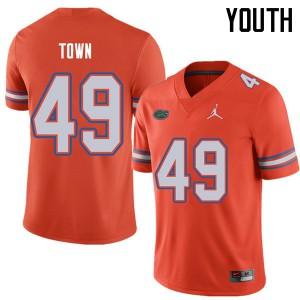 Jordan Brand Youth #49 Cameron Town Florida Gators College Football Jerseys Orange 918310-224