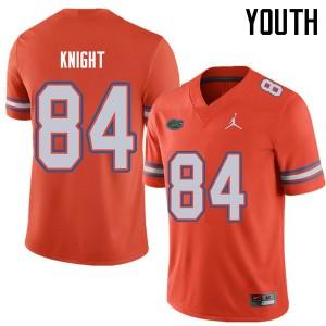 Jordan Brand Youth #84 Camrin Knight Florida Gators College Football Jerseys Orange 818549-965