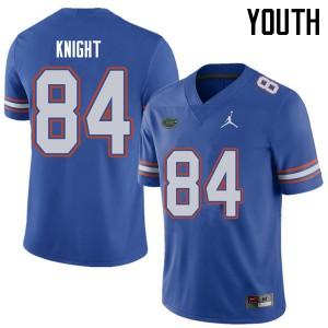 Jordan Brand Youth #84 Camrin Knight Florida Gators College Football Jerseys Royal 170853-711