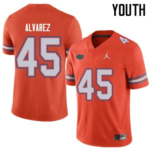 Jordan Brand Youth #45 Carlos Alvarez Florida Gators College Football Jerseys Orange 438552-600