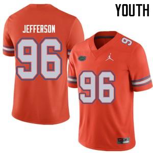 Jordan Brand Youth #96 Cece Jefferson Florida Gators College Football Jerseys Orange 910352-805