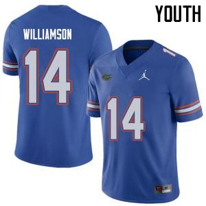 Jordan Brand Youth #14 Chris Williamson Florida Gators College Football Jerseys Royal 917805-320