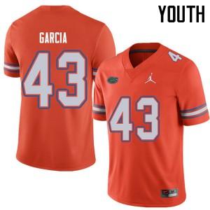 Jordan Brand Youth #43 Cristian Garcia Florida Gators College Football Jerseys Orange 192353-776