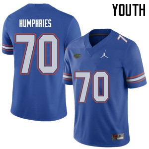 Jordan Brand Youth #70 D.J. Humphries Florida Gators College Football Jerseys Royal 290490-135