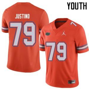 Jordan Brand Youth #79 Daniel Justino Florida Gators College Football Jerseys Orange 470366-811