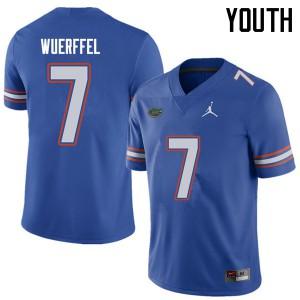 Jordan Brand Youth #7 Danny Wuerffel Florida Gators College Football Jerseys Royal 985952-953