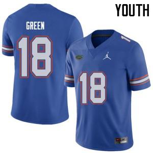 Jordan Brand Youth #18 Daquon Green Florida Gators College Football Jerseys Royal 443989-328