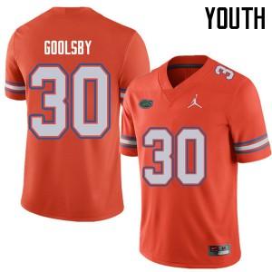 Jordan Brand Youth #30 DeAndre Goolsby Florida Gators College Football Jerseys Orange 644387-882
