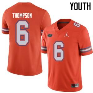 Jordan Brand Youth #6 Deonte Thompson Florida Gators College Football Jerseys Orange 307543-467