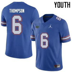 Jordan Brand Youth #6 Deonte Thompson Florida Gators College Football Jerseys Royal 573405-640