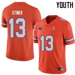 Jordan Brand Youth #13 Donovan Stiner Florida Gators College Football Jerseys Orange 166057-358