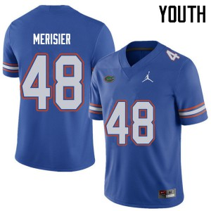 Jordan Brand Youth #48 Edwitch Merisier Florida Gators College Football Jerseys Royal 177729-234
