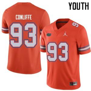 Jordan Brand Youth #93 Elijah Conliffe Florida Gators College Football Jerseys Orange 705444-576