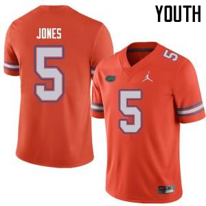 Jordan Brand Youth #5 Emory Jones Florida Gators College Football Jerseys Orange 891463-310