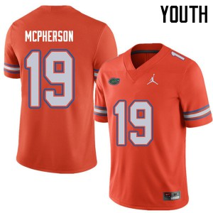 Jordan Brand Youth #19 Evan McPherson Florida Gators College Football Jerseys Orange 908160-548