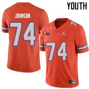 Jordan Brand Youth #74 Fred Johnson Florida Gators College Football Jerseys Orange 929076-854