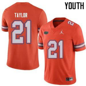 Jordan Brand Youth #21 Fred Taylor Florida Gators College Football Jerseys Orange 257039-346