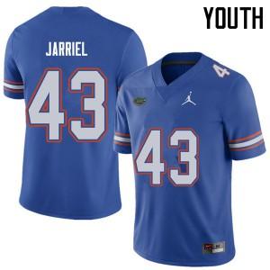 Jordan Brand Youth #43 Glenn Jarriel Florida Gators College Football Jerseys Royal 823900-754