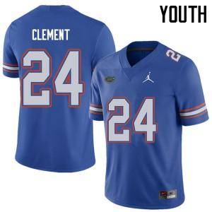 Jordan Brand Youth #24 Iverson Clement Florida Gators College Football Jerseys Royal 897933-882
