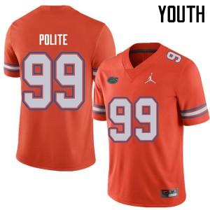 Jordan Brand Youth #99 Jachai Polite Florida Gators College Football Jerseys Orange 125588-716