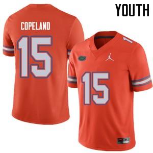 Jordan Brand Youth #15 Jacob Copeland Florida Gators College Football Jerseys Orange 670815-158