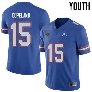 Jordan Brand Youth #15 Jacob Copeland Florida Gators College Football Jerseys Royal 151193-223