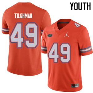 Jordan Brand Youth #49 Jacob Tilghman Florida Gators College Football Jerseys Orange 988599-500