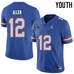 Jordan Brand Youth #12 Jake Allen Florida Gators College Football Jerseys Royal 121995-612